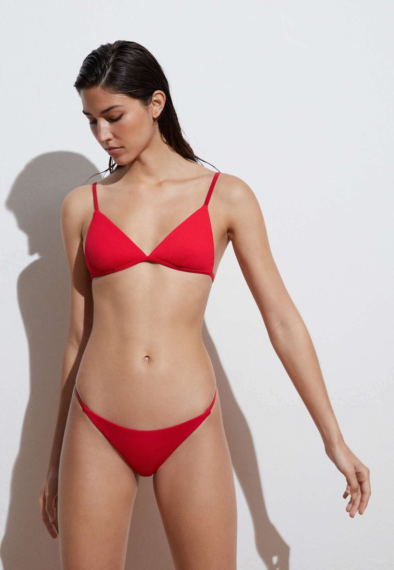 OYSHO - STRAPPY CLASSIC  - Bikini bottoms - red
