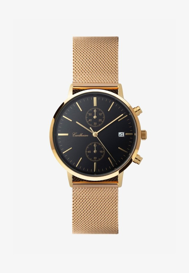 Chronograph watch - gold-black