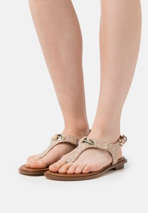 PLATE THONG - T-bar sandals - camel