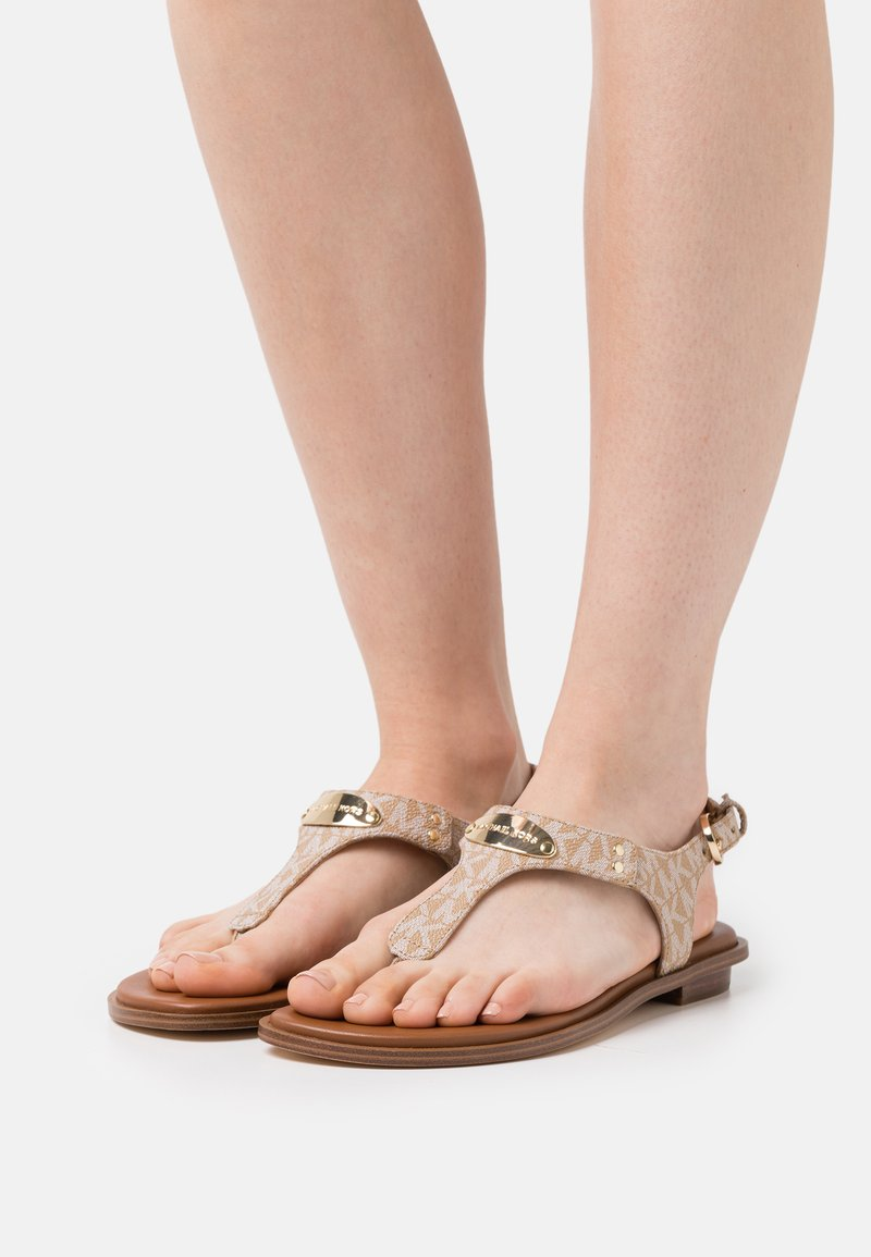 MICHAEL Michael Kors - PLATE THONG - T-bar sandals - camel