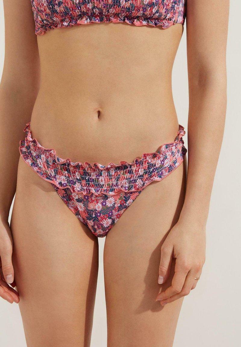 Tezenis - FLOWER - Bikini pezzo sotto - dark nude st summer flower