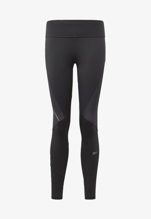 ONE SERIES RUNNING LOGO REFLECTIVE TIGHTS - Trikoot - black
