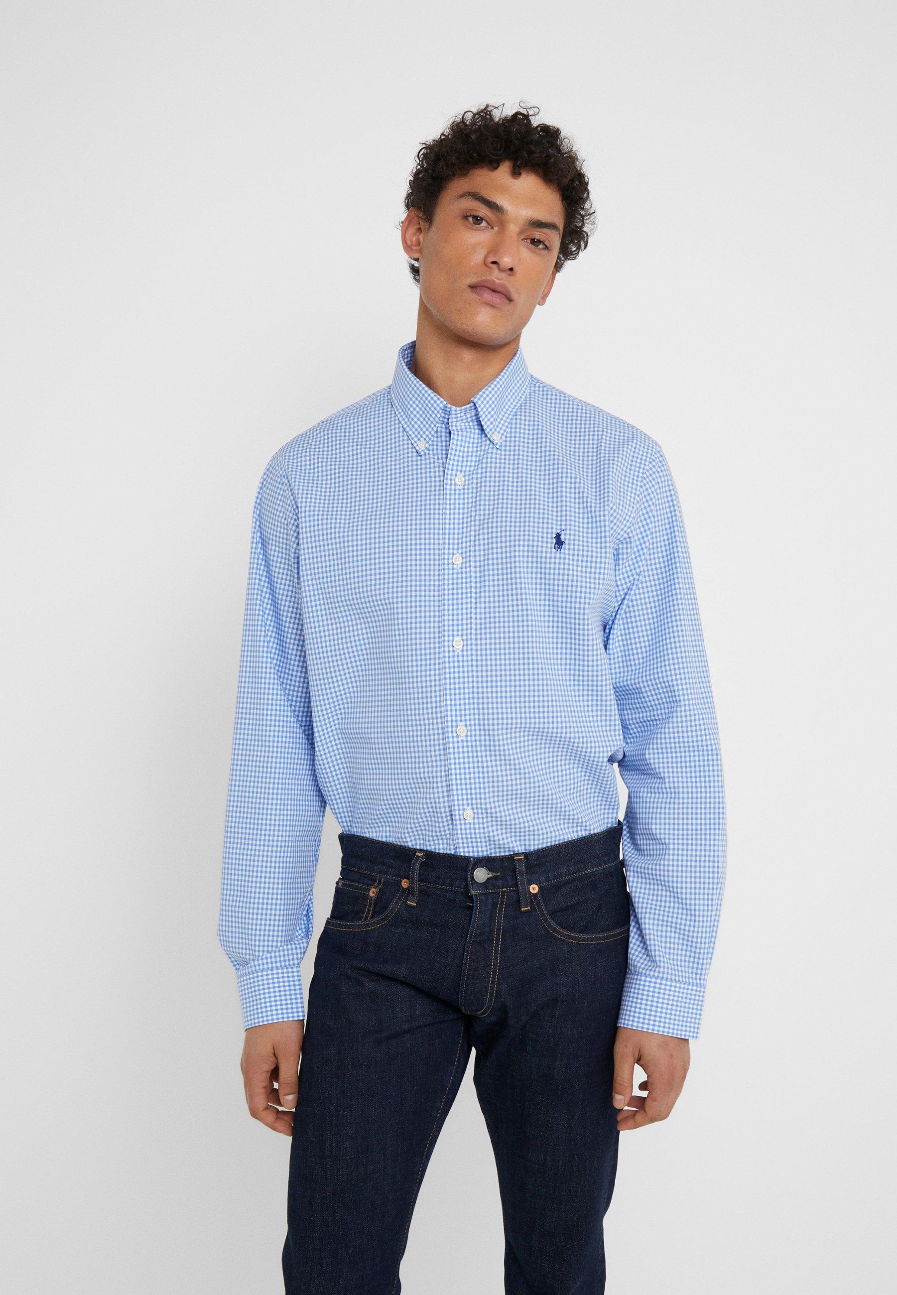 Homme CUSTOM FIT  - Chemise - blue/white