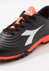 Diadora - PICHICHI 2 TF - Astro turf trainers - black/white/red fluo - 2
