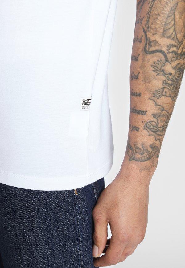 G-Star BASE-S R T S\S - T-shirt basic - white/biały Odzież Męska UUNG