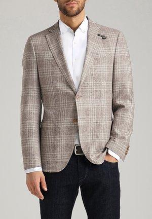 Blazer jacket - silver cloud karo
