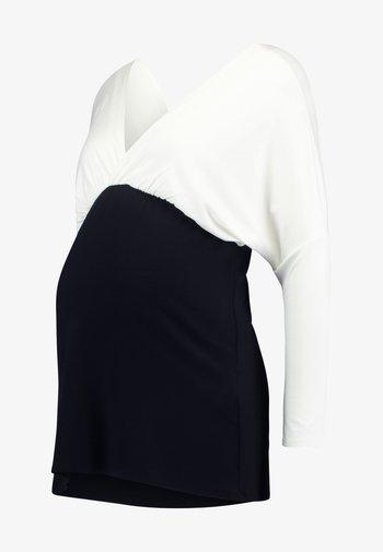MAELE - Bluzka z długim rękawem - off white/black