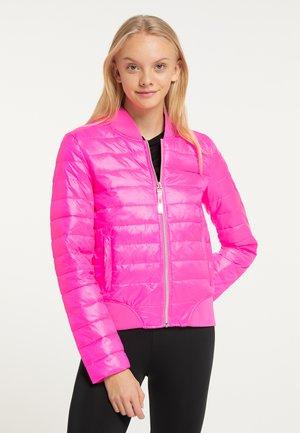 Zimní bunda - neon pink