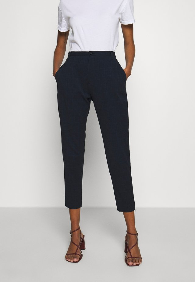 KRISSY TROUSER - Bukse - dark navy structure