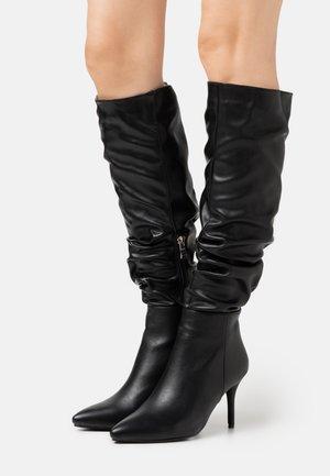 JULIANA - Kozačky na vysokém podpatku - black