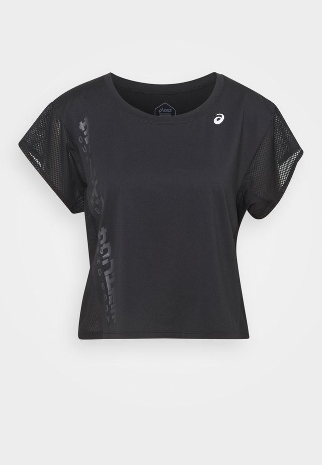 RUN - Print T-shirt - performance black/graphite grey