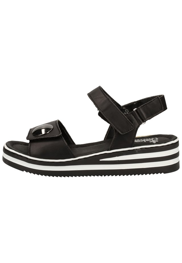 Sandalen met plateauzool - schwarz 00