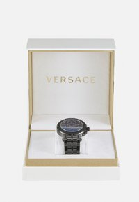 Versace Watches - GRECA - Chronograph watch - gunmetal/blue