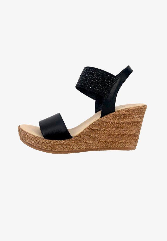 ELASTIC - Wedge sandals - black