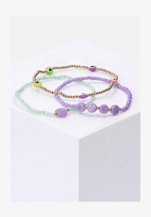 SET OF 3 - Bracelet - purple, green, orange