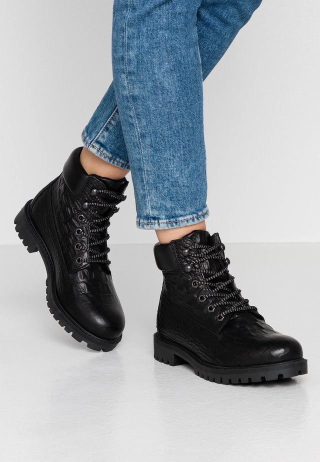 BIACHARLIE WINTER HIKING BOOT - Lace-up ankle boots - black