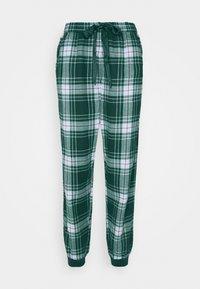 Hunkemöller - PANT CHECK CUFF - Pyjama bottoms - atlantic deep - 4