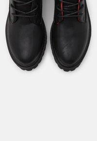 Even&Odd - Šněrovací kotníkové boty - black - 5