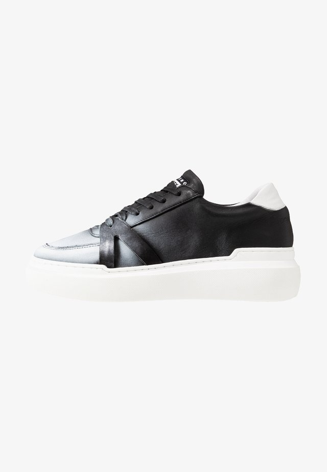 BLOCK - Sneakersy niskie - black/white
