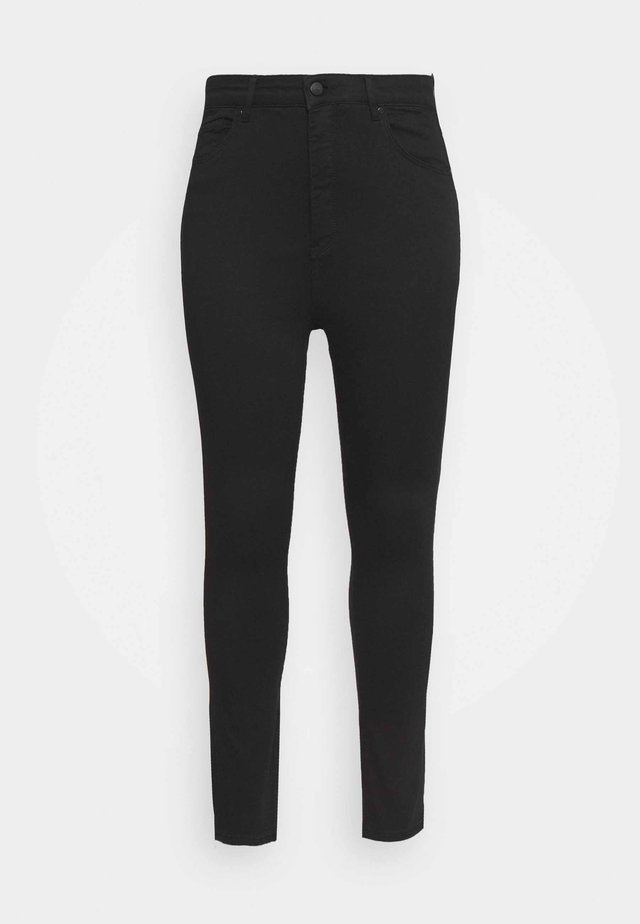BIANCA HIGH RISE ANKLE GRAZER - Trousers - forever black