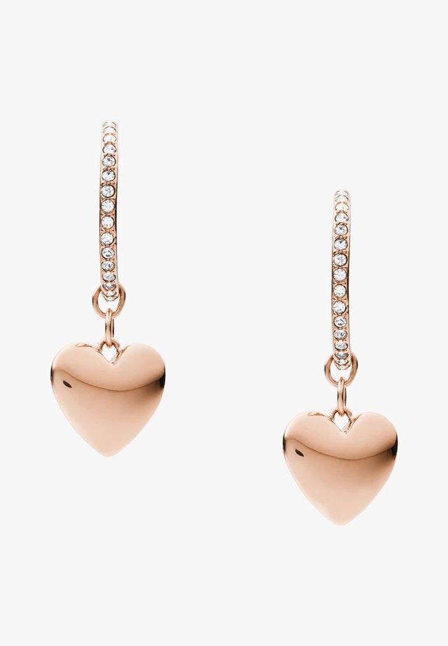 VINTAGE GLITZ - Earrings - rose gold