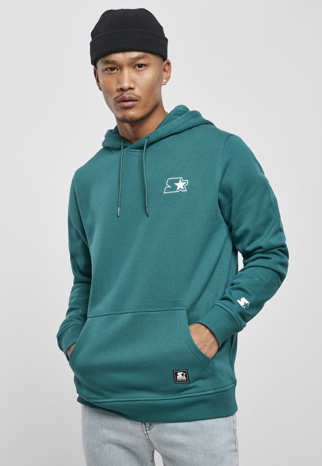 Sweat à capuche - retro green