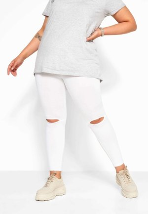 RIPPED - Leggings - Trousers - white