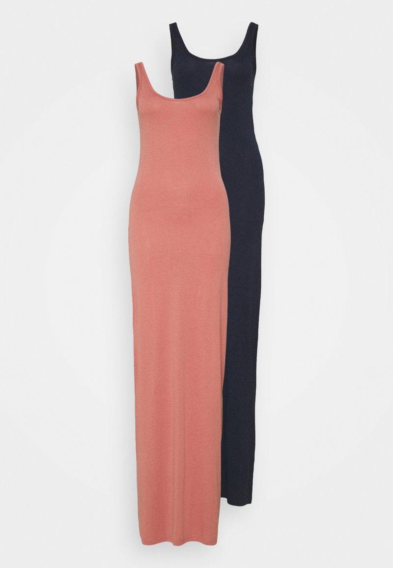 Vero Moda Tall - VMNANNA ANCLE DRESS 2 PACK - Maxi dress - navy blazer/old rose
