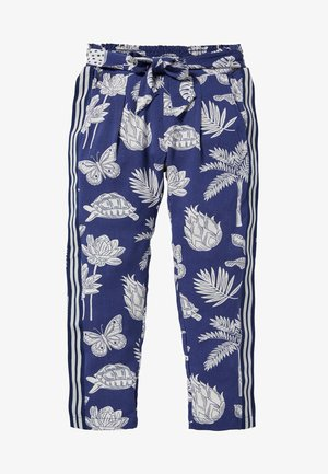Trousers - segelblau/botanikmuster