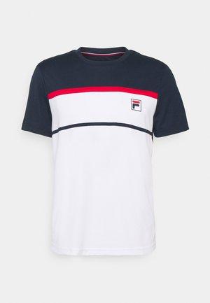 STEVE - T-shirts print - white/peacoat blue