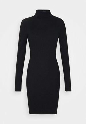 ROLL NECK MINI DRESS - Jumper dress - black