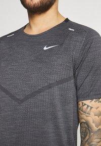 Nike Performance - TECHKNIT ULTRA  - Print T-shirt - black/white/silver - 5