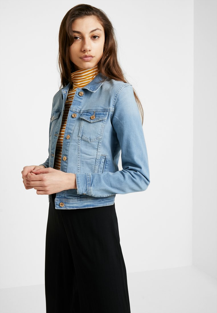 ONLY - ONLTIA JACKET - Džínová bunda - light blue denim