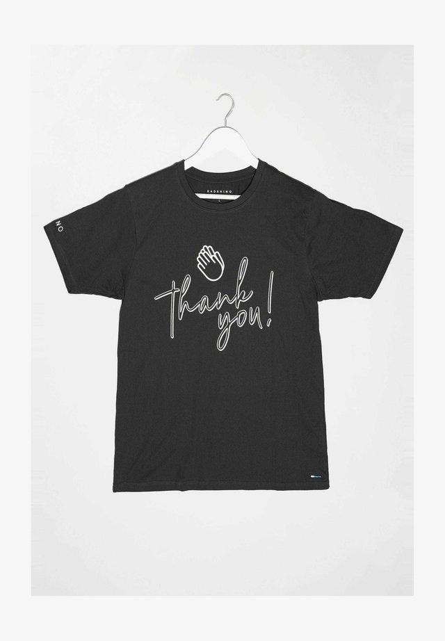 THANK YOU - Print T-shirt - black