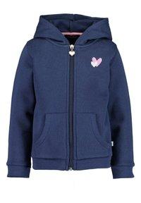 Blue Seven - BASICS - Zip-up sweatshirt - m01 - dk blau + nebel mel aop - 3