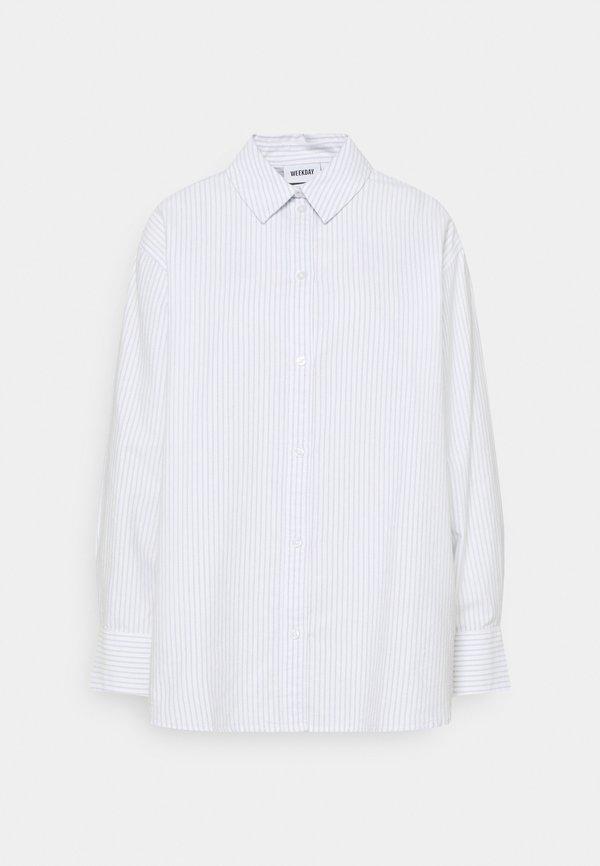 Weekday EDYN OXFORD - Koszula - blue/white/niebieski DYXD