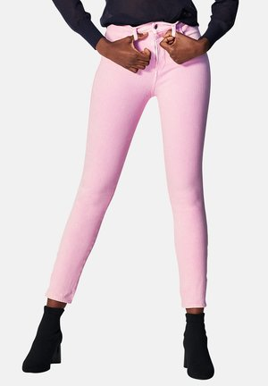 DENIM HIGH RISE - Jeans Skinny Fit - washed out pink
