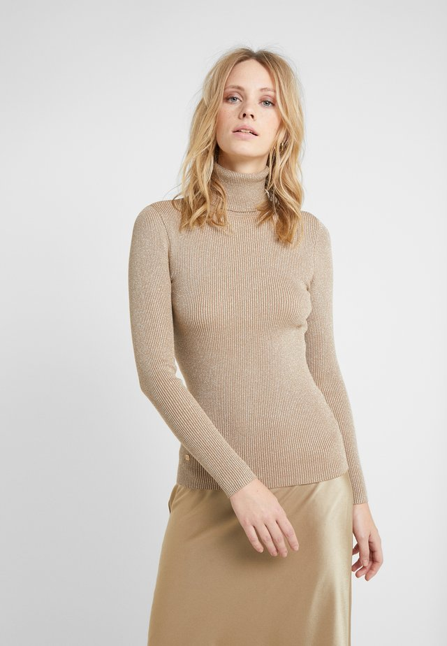 TURTLE NECK - Sweter - gold