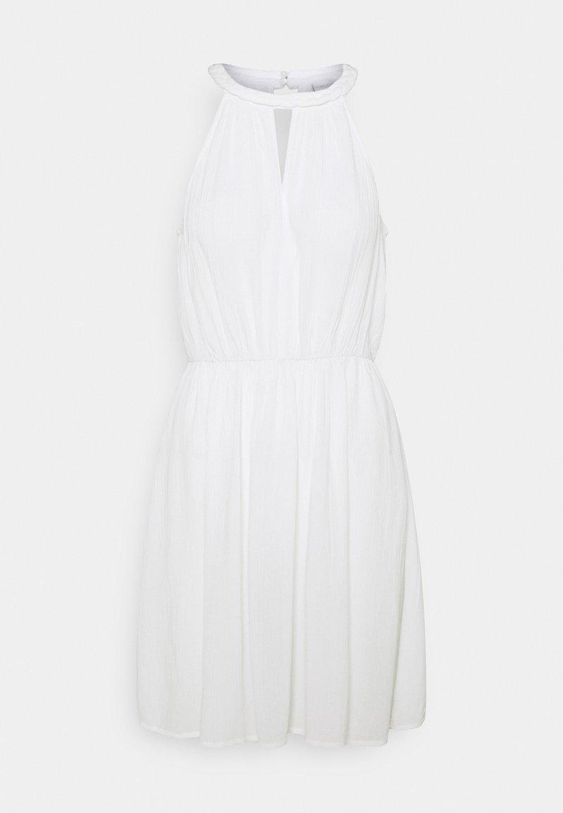 Vila - VIMESA BRAIDED SHORT DRESS - Denní šaty - snow white