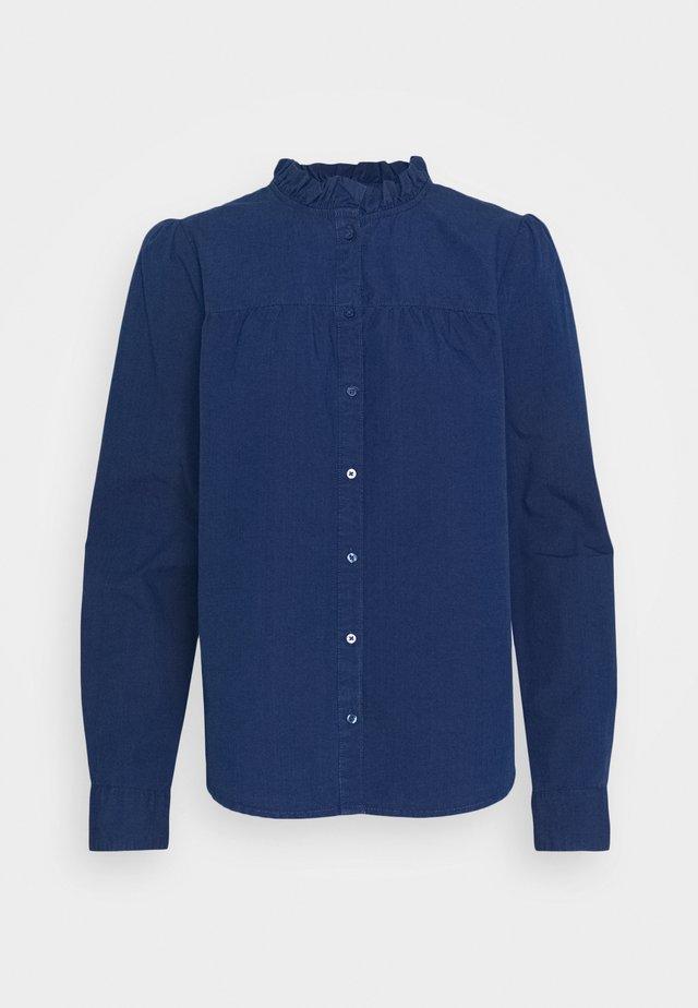 BLOUSE CAJSA  - Button-down blouse - blue