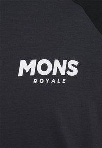 Mons Royale - CADENCE HALF ZIP  - Triko spotiskem - black/iron - 2
