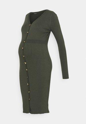 DRESS NURS BUTTON - Gebreide jurk - grape leaf