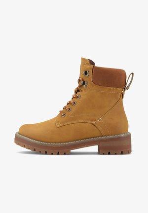 FINCATO-B - Lace-up ankle boots - mittelbraun