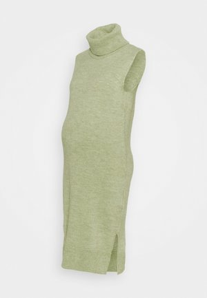 MLSUNN HIGH NECK DRESS - Robe en jersey - frosty green melange