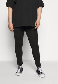 Missguided Plus - 2 PACK - Leggings - Trousers - black - 1