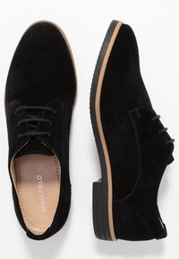 Anna Field - LEATHER FLAT SHOES LACE-UPS - Lace-ups - black