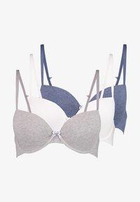Anna Field - 3 PACK - T-skjorte-BH - white/dark blue/grey - 4