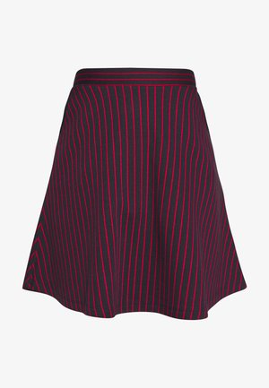 STRIPED SKIRT - Mini skirt - navy