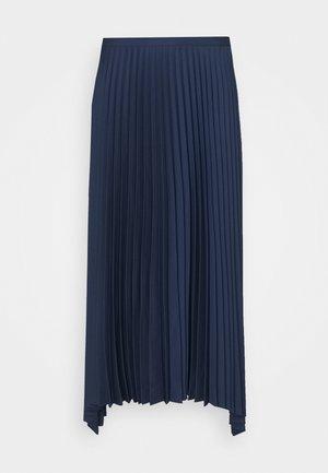 PLEAT SPRING - Długa spódnica - sailor