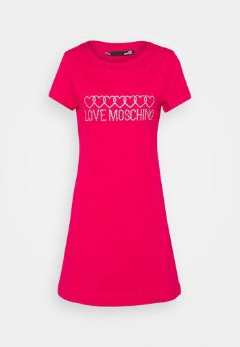 Jersey dress - fuchsia